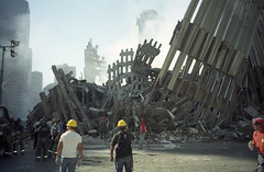 WTC Twin Towers - 9/11 Aftermath (jamie nyc) Tags: nyc newyorkcity aftermath worldtradecenter 911 twintowers wtc gothamist thebullys photobyjimkiernan ripjohnheffernanakajohnnyhef osamabinladenisdead