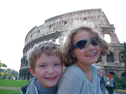 kids at Roman Colosseum