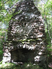 080920_010-Old chimney in the woods (Greylock, Massachusetts, United States) Photo
