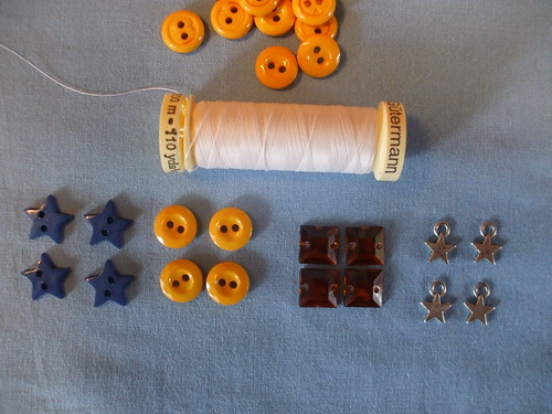 buttons and charms for my curtains