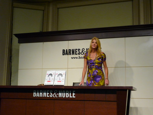Candace Bushnell sits for her signing after the reading the Q&A
