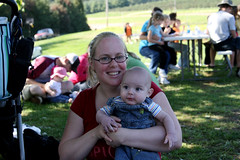 Me and Isaac at Larriland Farms