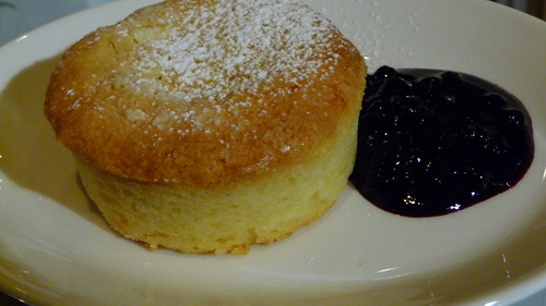Basque Cake w/ Huckleberry Compote at Ad Hoc