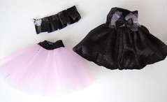 Black Velvet Dress Set