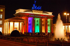Brandenburg Gate in Berlin, Germany (Tobi_2008) Tags: berlin germany deutschland nightshot brandenburggate brandenburgertor allemagne festivaloflights germania nachtaufnahme mywinners abigfave anawesomeshot colorphotoaward ysplix theunforgettablepictures colourartaward theperfectphotographer goldstaraward