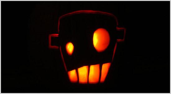 Robot pumpkin