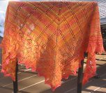 Raffle for Colleen - Icarus Shawl in handspun targhee