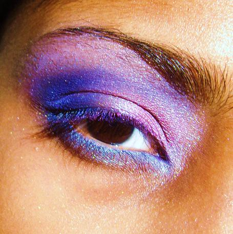 Blue pink purple eye make up design idea