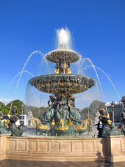 Place de la Concorde - Fontaine des Fleuves (*Checco*) Tags: paris france water fountain square flow europa europe place concorde piazza fontana francia fontaine placedelaconcorde parigi 5photosaday anticando