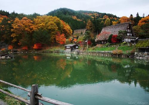 Autumn Village in Japan