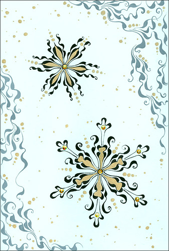 Handmade Cards For New Year. Handmade card quot;New Year Snowflakesquot;
