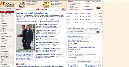 old FT homepage