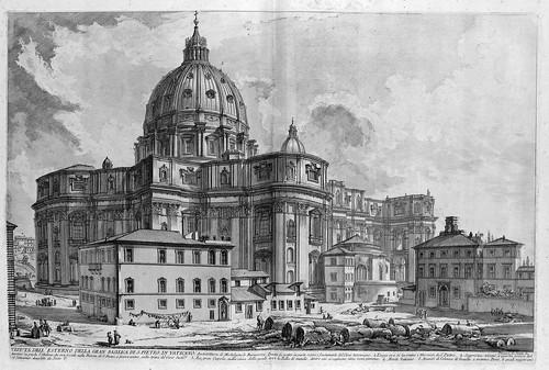 006-Vista del exterior de la Basilica de San Pedro en el Vaticano