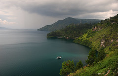 The Lake Toba ( DocBudie) Tags: lake indonesia gettyimages danau danautoba sumaterautara northsumatera tobalake tobasa thebiggestvolacanolakeintheworld