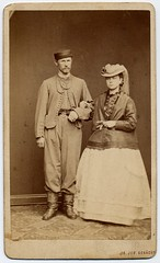 Czech Patriotic Wedded Pair (josefnovak33) Tags: old vintage de pair photograph cdv visite carte wedded