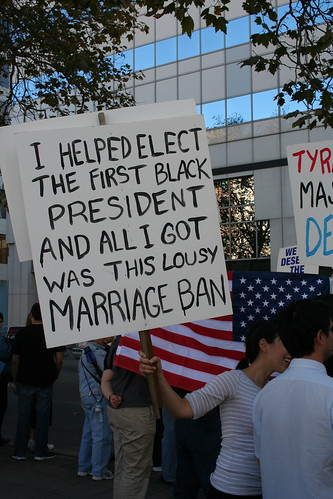 I helped elect the first black President and all I got was this lousy marriage ban