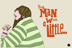 Big Man Little... (mike.juxtavision) Tags: art illustration poster design graphicdesign drawing artdirection juxtavision