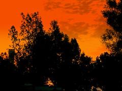 Fire in the sky (Elaine31) Tags: kartpostal