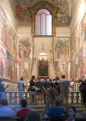 Brancacci with visitors