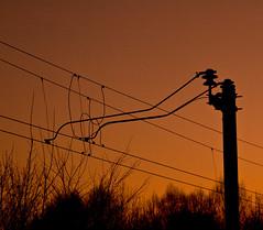 Kjreledning (VirumPhoto - Svein J Lindstad) Tags: tog solnedgang bildekritikk wonderfulworldmix lindstad kjreledning