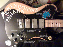 Gerbilcaster (antiuser) Tags: switch experimental kill wiring guitar deluxe seymour tap custom coil modification phase duncan mods p90 telecaster humbucker gerbilcaster