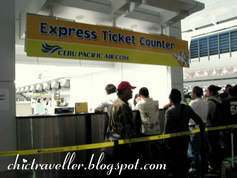 Cebu Pacific airport express ticket counter