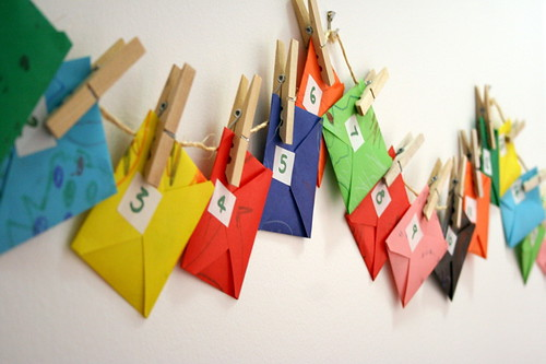 crafty envelope advent calendar