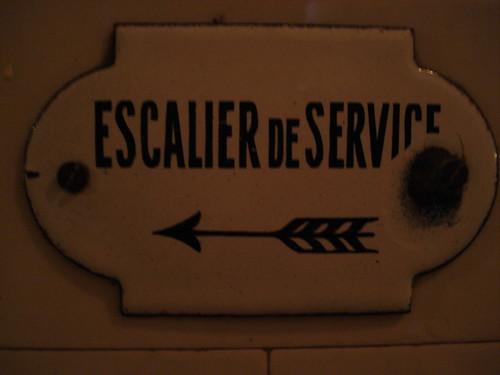 Service elevator sign