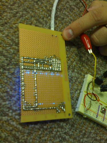 Soldering on back of LCD board