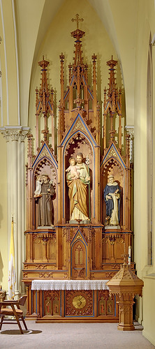 Saint Cecilia Roman Catholic Church, in Bartelso, Illinois, USA - altar of Saint Joseph