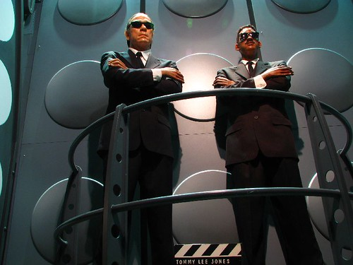 Hollywood wax muesuem MIB