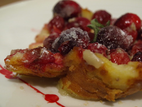 sugared cranberry clafoutis