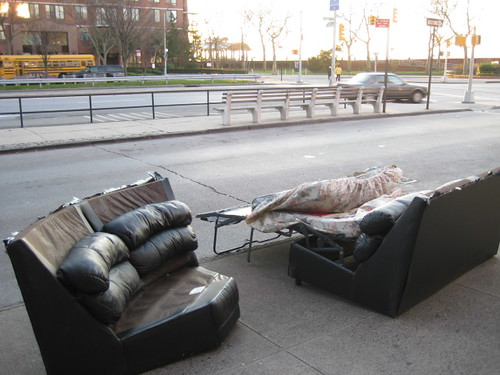 Couch with bed on Ocean Parkway