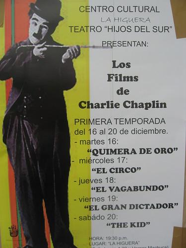 charlie chaplin poster. Poster for Charlie Chaplin Film Festival, Calle Larga, Cuenca, Ecuador,