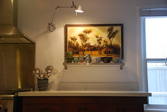Idea #1 for art here (kimhaseightcats) Tags: wood art kitchen wall painting asian design view