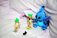 Something is happening... DSC_9323 (~Nisa) Tags: two toy toys one singapore asia stitch disney yotsuba germanpinscher bluealien revoltech puppyinmypocket   playalong  heidious