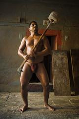 Pendulum (sengsta) Tags: india club exercise varanasi wrestler fitness gym weights ganga ganges benares akhara sonsofganga langota