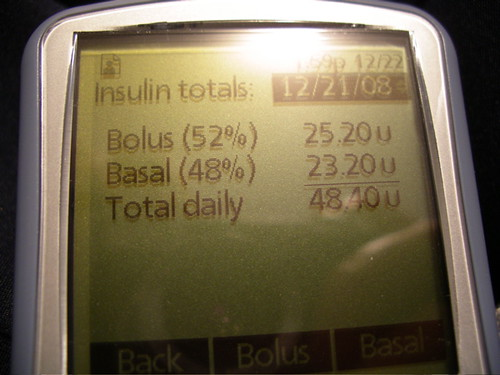Diabetes 365 - Day 1 - 12/22/2008 - Insulin totals
