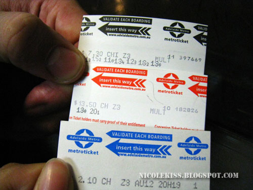 various type of tickets