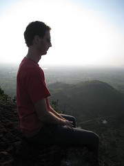 Meditating on the mountain - Tiruvannamalai