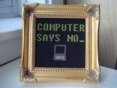 Computer says no_ (benjibot) Tags: tv crossstitch crafts littlebritain