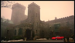 Castle at Sleepy Hollow with Sports Car by J.Everhart ( julev69  200,000+ views ~THANK YOU!!!) Tags: castle general foggy ferrari civilwar lanterns stonebuildings castleonthehudson redsportscar oldcastles jeverhart julev69 carrollcliffe axecastle