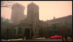 Castle at Sleepy Hollow with Sports Car by J.Everhart ( julev69  1,500,000+ Views- THANK YOU!) Tags: castle general foggy ferrari civilwar lanterns stonebuildings castleonthehudson redsportscar oldcastles jeverhart julev69 carrollcliffe axecastle