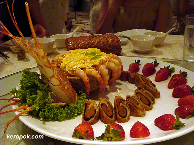 Mandarin Oriental Combination - Lobster and prawn with seafood roll