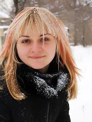 Another winter portrait (alex bard) Tags: park trees winter portrait woman white nature girl beautiful beauty canon photo outdoor ukraine blond blonde donetsk 450d