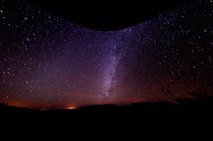 Starry Night at Big Bend, fisheye