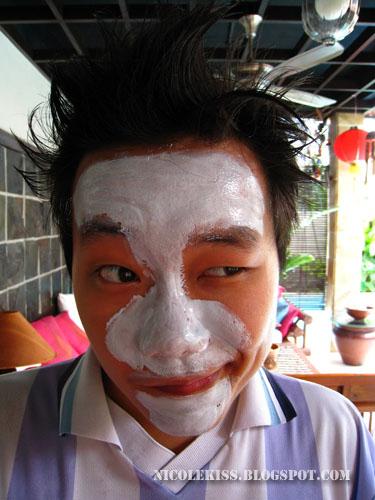 casey doing mask