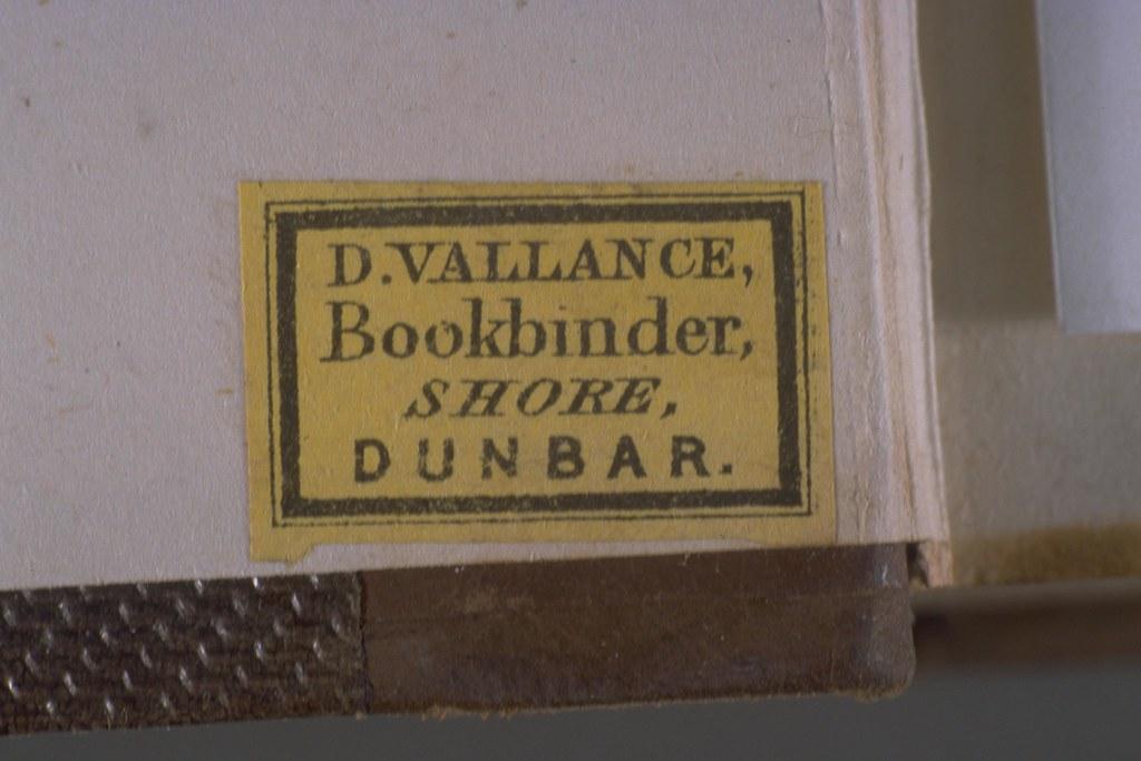 Bookbinder's label