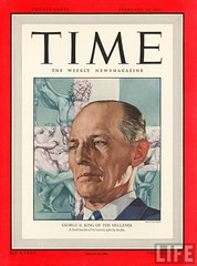King George II of the Hellenes on the Time magazine cover (royalist_today) Tags: birthday portrait denmark greek krone elizabeth kingdom athens constantine greece monarch rey griechenland sophia royalty monarchy throne athina 1947 sovereign roi knig prussia kronprinz kingconstantine basileos   kingofthehellenes