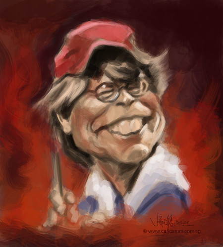digital caricature of Stephen King - 1